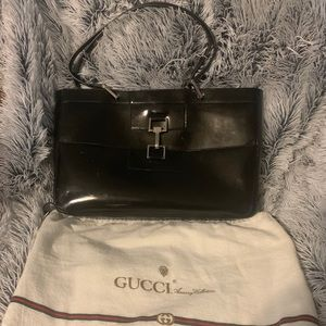 Authentic Gucci Leather Bag with Dust Bag